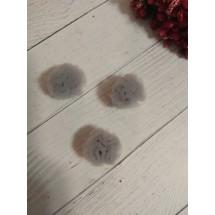 Помпоны из фатина 2,5 см цв. серый, цена за 1 шт