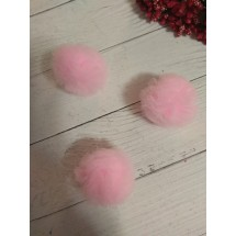 Помпоны из фатина 3,5 см цв. розовый, цена за 1 шт