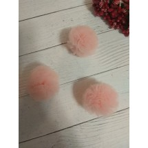 Помпоны из фатина 3,5 см цв. нежно-розовый, цена за 1 шт