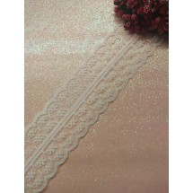 Кружево капроновое 45 мм цв. белый, цена за 1 м