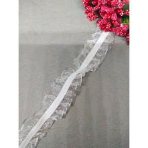 Резинка-кружево (люрекс серебро) 25 мм, цена за 1 м