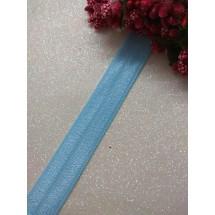 Тесьма эластичная 1,5 см (цв. голубой), цена за 1 м