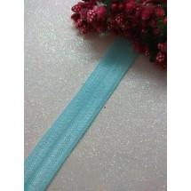 Тесьма эластичная 1,5 см (цв. аквамарин)