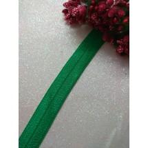 Тесьма эластичная 1,5 см (цв. зеленый), цена за 1 м