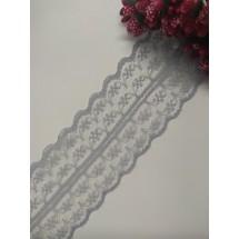 Кружево 4,5 см, цв. серый, цена за 1 м