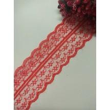 Кружево 4,5 см, цв. красный, цена за 1 м