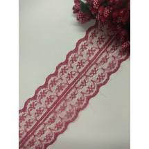 Кружево 4,5 см, цв. бордовый, цена за 1 м