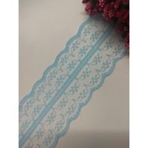 Кружево 4,5 см, цв. голубой, цена за 1 м