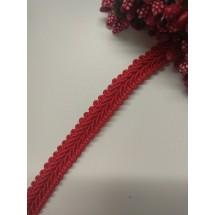 Тесьма отделочная 1,1 см цв. красный, цена за 1 м