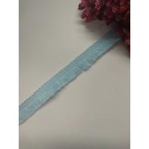 Тесьма с бахромой 1,2 см цв. голубой, цена за 1 м