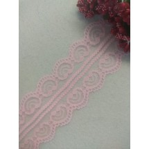 Кружево капроновое  5 см цв. светло-розовый, цена за 1 м
