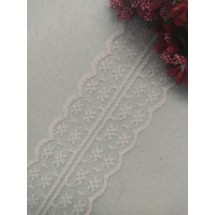 Кружево 4,5 см, цв. бледно-розовый, цена за 1 м