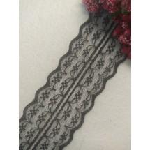 Кружево 4,5 см, цв. черный, цена за 1 м