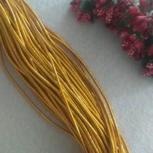 Резинка шляпная 2 мм цв. золото, цена за 1 м