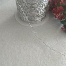 Шнур декоративный метализированный 1 мм (цв. серебро), цена за 10 м