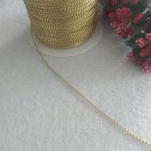 Шнур декоративный метализированный 1 мм (цв. св. золото), цена за 10 м