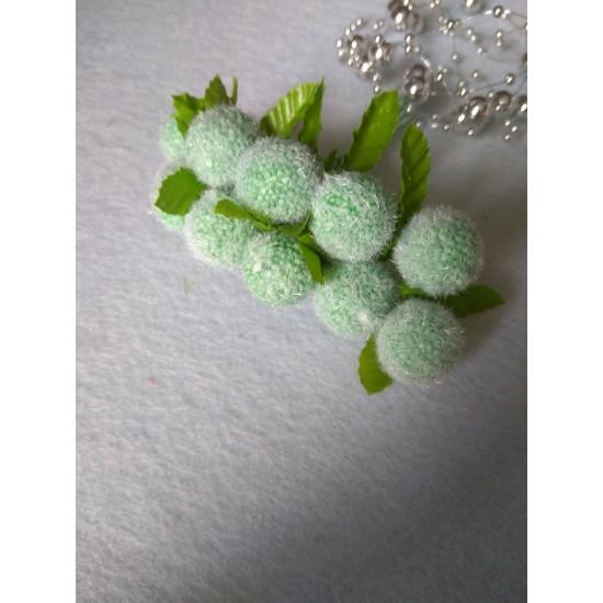 Букетики декор., 20 мм на проволоке в пучках (10 шт) цв. зеленый,  цена за пучок