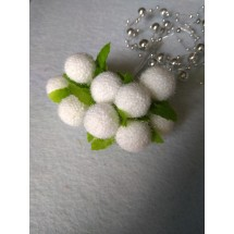 Букетики декор., 20 мм на проволоке в пучках (10 шт) цв. белый,  цена за пучок
