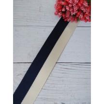 Лента жаккард PREMIUM 25мм цв. темно-синий, цена за 1 м