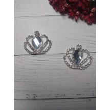 "Серединка ювелирная ""корона"" 28*36 мм, цена за 1 шт"