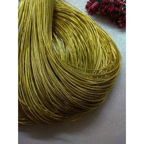 Шнур декоративный метализированный 2 мм (цв. золото), цена за 10 м