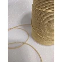 Шнур декоративный 1,5 мм золотой 104, цена за 1 м