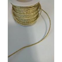 Шнур декоративный светло-золотистый 2 мм, цена за 1 м