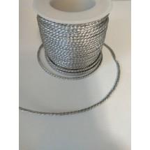Шнур декоративный серебристый 2 мм, цена за 1 м