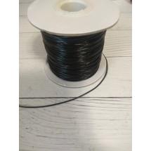 Шнур вощеный 1 мм цв. черный, цена за 1 м