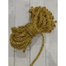 Шнур декоративный 6мм плетенный золотой , цена за 1 м