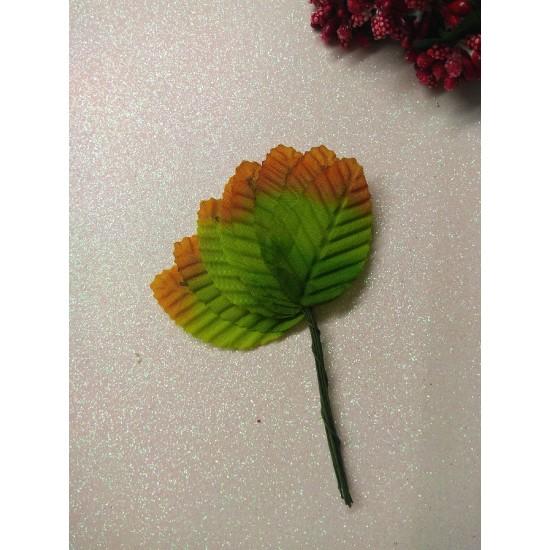 Листья тканевые на проволоке (10 шт), цена за пучок